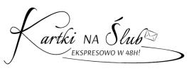 Logo kartki na ślub